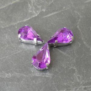 Akrylové kamínky 13x8mm v kotlíku - fialové