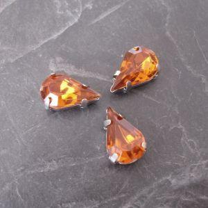 Akrylové kamínky 13x8mm v kotlíku - hnědooranžové