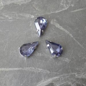 Akrylové kamínky 13x8mm v kotlíku - tm. modré