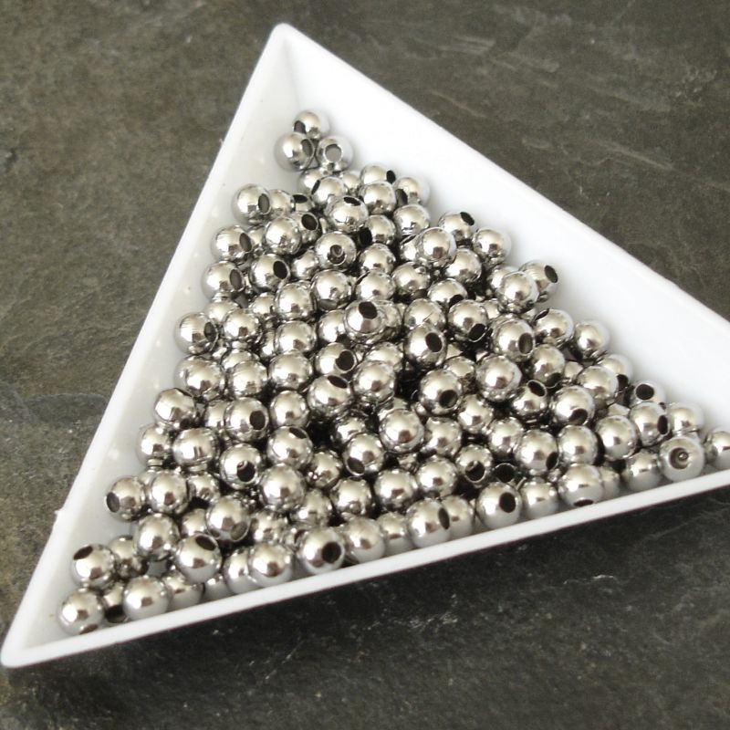 Nerezový korálek 4mm - Stainless Steel - 10 ks