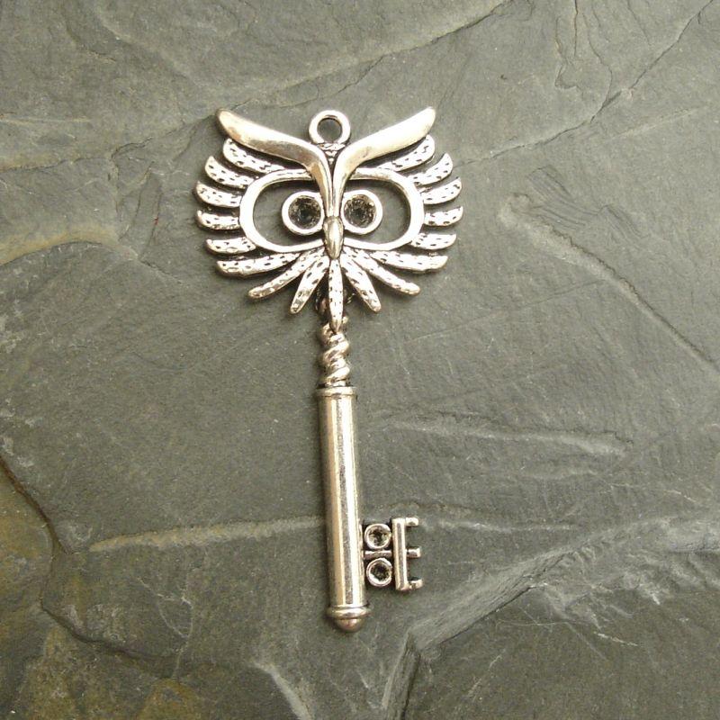 Přívěsek klíček 27,5x53,5mm - starostříbrný - 1 ks