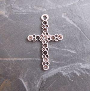 Přívěsek křížek 25x39mm - starostříbrný