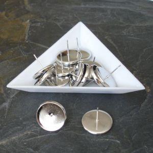 Puzety s lůžkem 16(14) mm - platinové - 2 ks