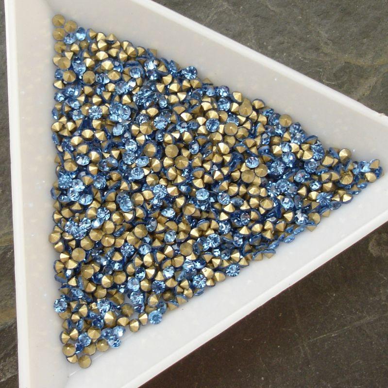 Šatony cca 1,9 - 2,0 mm - sv. modré - 50 ks