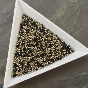 Skleněné šatony cca 1,6 - 1,7 mm - černé - 50 ks