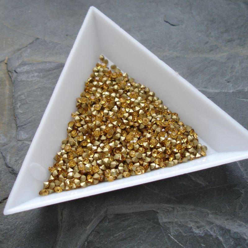 Šatony cca 1,6 - 1,7 mm - topaz - 50 ks