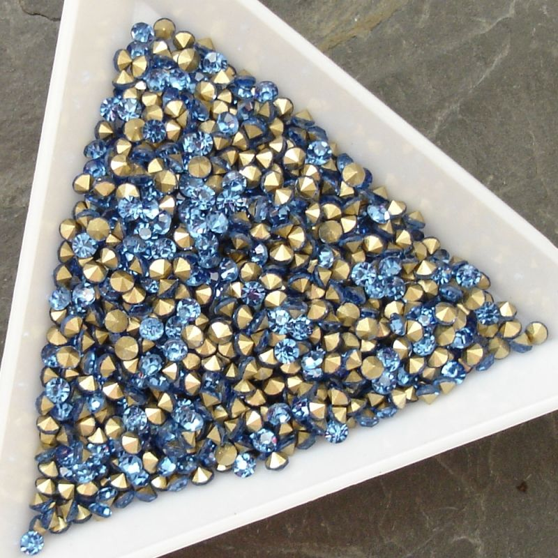 Šatony cca 2,3-2,4 mm - sv. modré - 50 ks