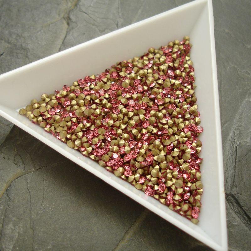 Šatony cca 1,9 - 2,0 mm - tmavě růžové - 50 ks