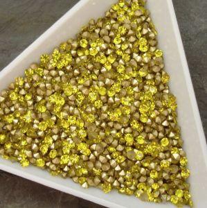Skleněné šatony cca 2,0 - 2,1 mm - žluté - 50 ks