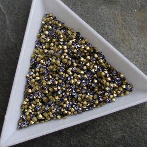 Skleněné šatony cca 2,1 - 2,2 mm - fialové - 50 ks