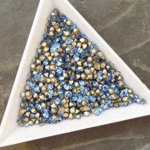 Skleněné šatony cca 2,7-2,8 mm - sv. modré
