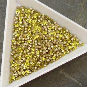 Skleněné šatony cca 2,3 - 2,4 mm - žluté - 50 ks