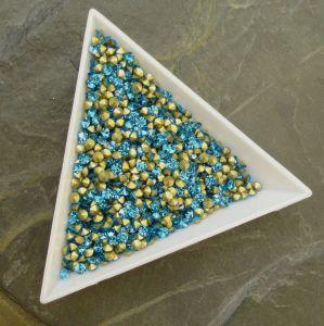 Skleněné šatony cca 2,6 - 2,7 mm - azurové