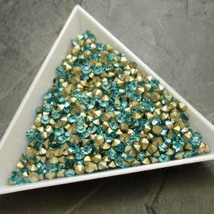 Skleněné šatony cca 2,9 - 3,0 mm - azurové - 50 ks