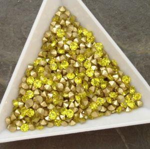 Skleněné šatony cca 2,9 - 3,0 mm - žluté - 50 ks