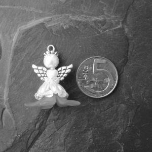 Velký andílek pro štěstí - azurový - 1 ks Jelínková Martina
