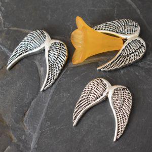 Andělská křídla 24,5x24,5x5mm - starostříbrná - 10 ks