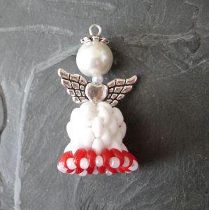 Andílek - bílo-červený - 1 ks
