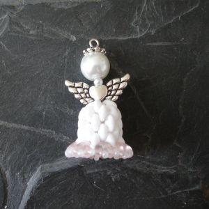 Andílek - bílo-růžový - 1 ks