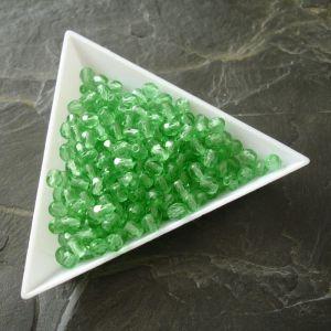 Broušené korálky 4mm - zelené - 50 ks