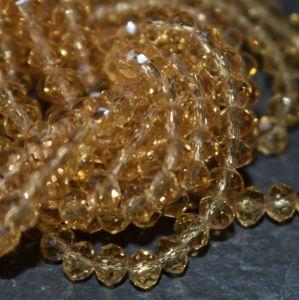 korálek rondelka 4x3 mm - hnědá - topaz - 20 ks