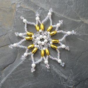 Hvězda č. 2 - bílo-zlatá