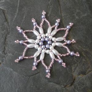 Hvězda č. 6 - růžovo-bílá