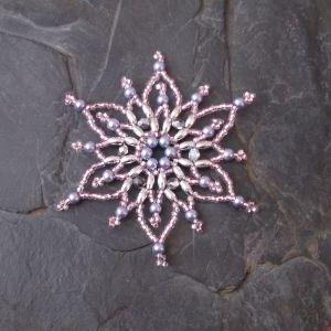 Hvězda č. 7 - růžovo-stříbrná