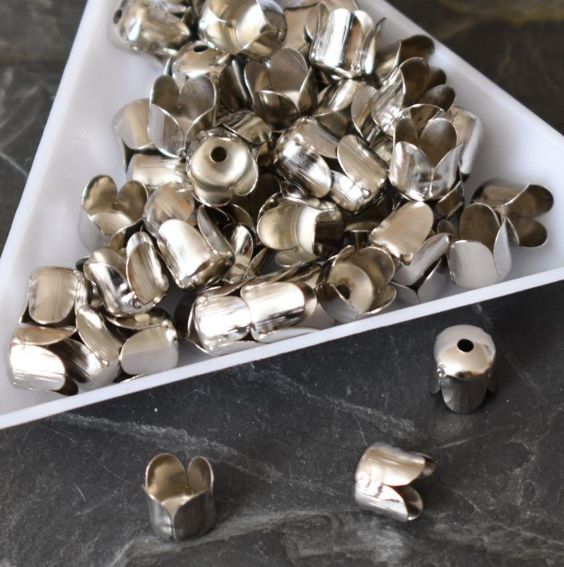 Kaplík 6,5x7 mm - platinový - 10 ks