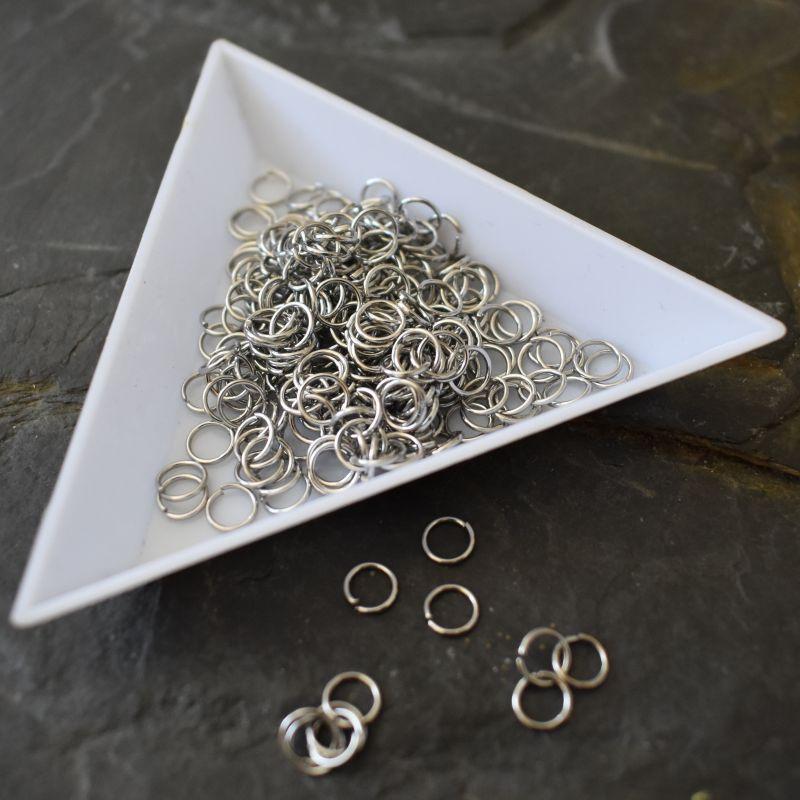 Kroužky spojovací 5x0,6mm - nerezová ocel 304 (Stainless Steel) - 50 ks