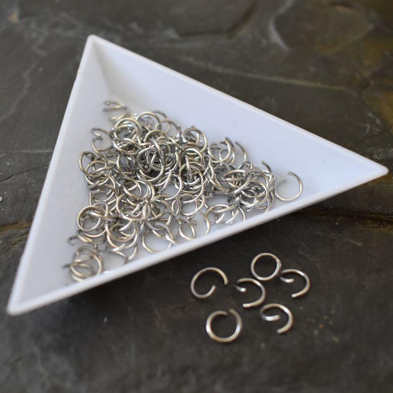 Kroužky spojovací 6x0,7mm - nerezová ocel 304 (Stainless Steel) - 50 ks