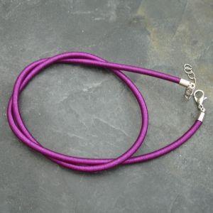 Náhrdelník hedvábný 3 mm - mix - 1 ks