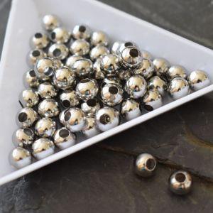 Korálek kulička 6mm - nerezová ocel 304 - 5 ks