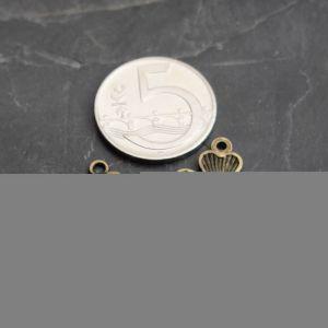 Přívěsek čryřlístek 21x17,5mm - starobronzový