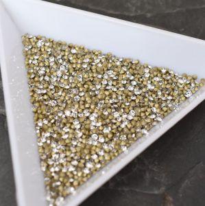 Skleněné šatony cca 1,4 - 1,5 mm - čiré - 50 ks