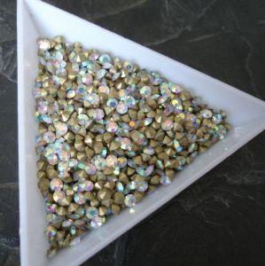 Skleněné šatony cca 1,9 - 2,0 mm - čiré AB