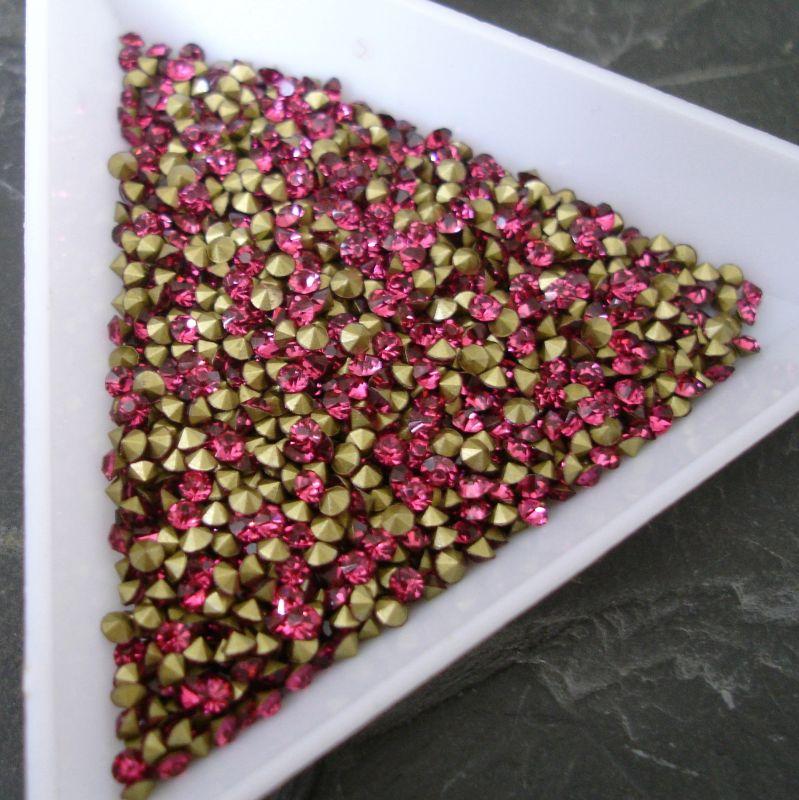 Šatony cca 2,0 - 2,1 mm - růžové Fuchsie - 50 ks
