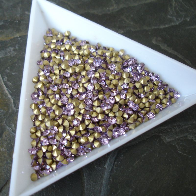 Šatony cca 2,4 - 2,5 mm - fialové - 50 ks