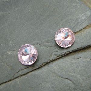 Skleněný broušený kamínek 14mm - růžový - 1 ks