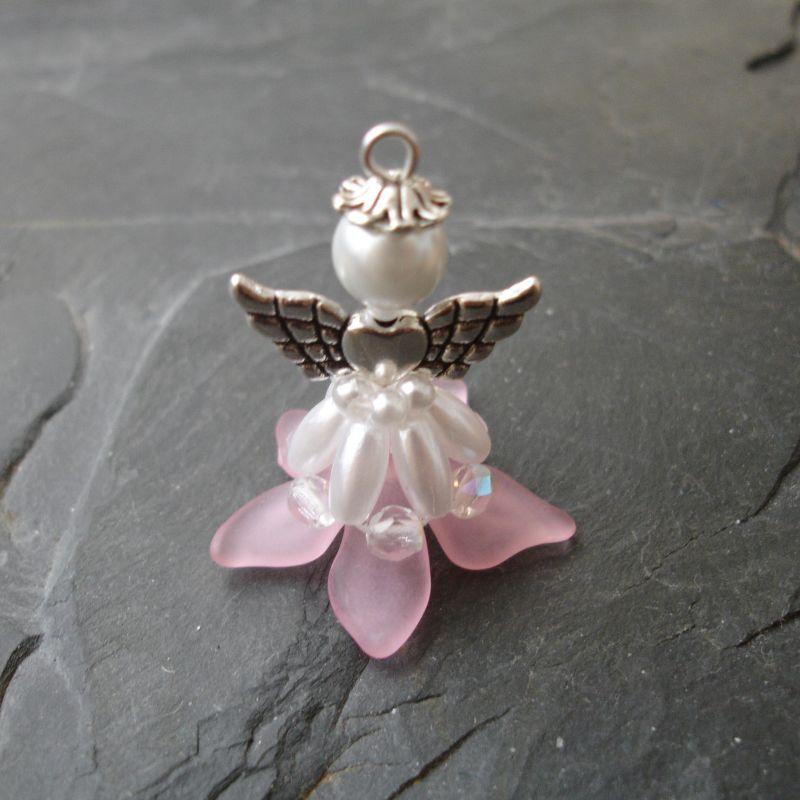 Velký andílek pro štěstí - světle růžový Jelínková Martina