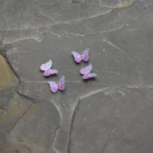 kabošon plastový motýlek 11x15,5x3,5mm - fialový   2 ks, 20 ks