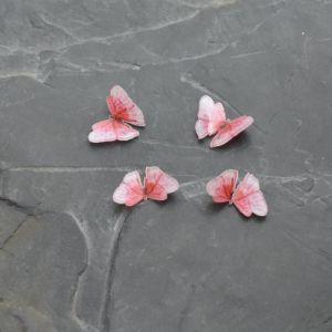- Kabošon motýlek 12,5x17,5mm - růžový