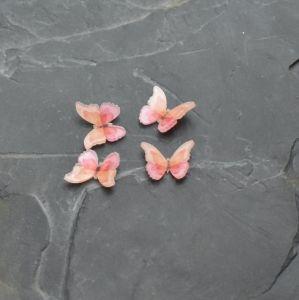- Kabošon motýlek 13x15,5mm - oranžovo-růžový
