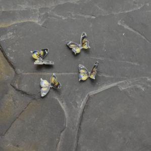 - Kabošon motýlek 9,5x10,5mm - žlutý