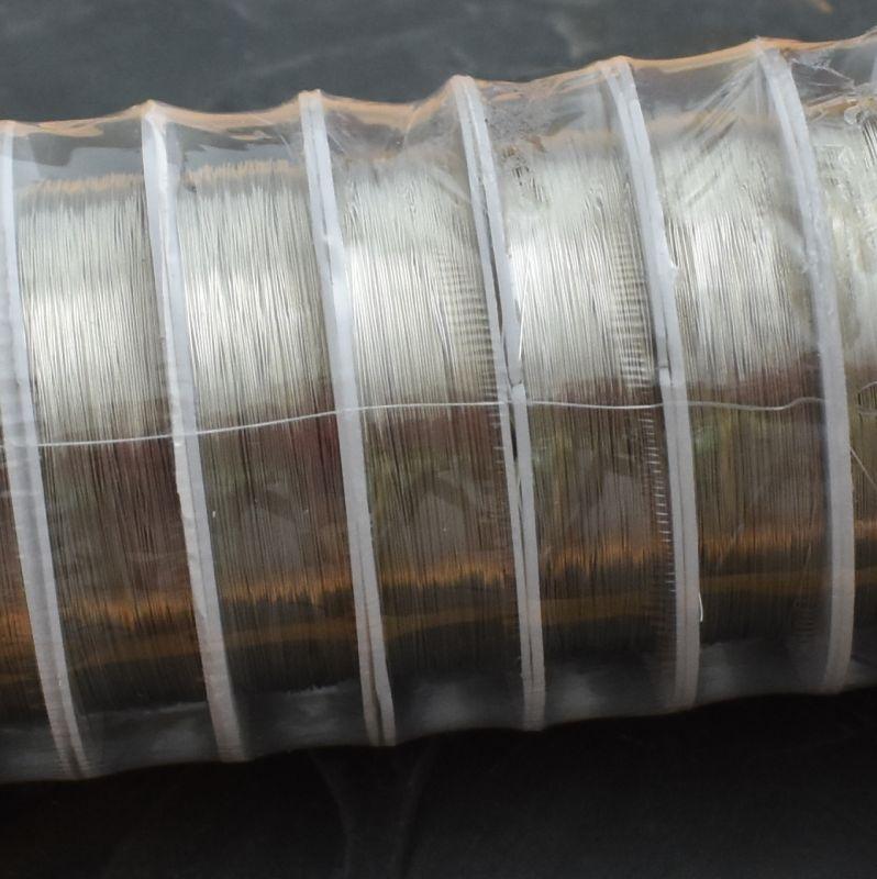 Měděný drát 0,3mm - stříbrný