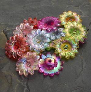 - Plastové květy 34mm - mix AB